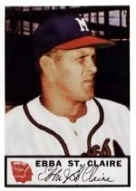 1953 Braves Johnston Cookies #16 Ebba St.Claire