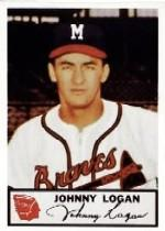 1953 Braves Johnston Cookies #20 Johnny Logan