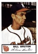 1953 Braves Johnston Cookies #22 Bill Bruton
