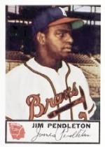 1953 Braves Johnston Cookies #25 Jim Pendleton