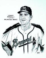 1953 Braves Merrell #2 Johnny Antonelli