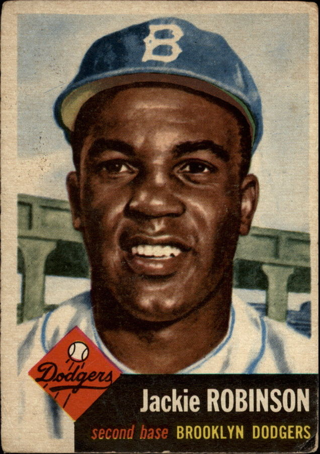 1953 Topps #1 Jackie Robinson DP