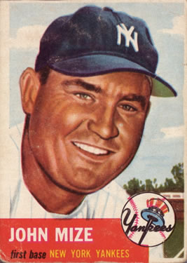 1953 Topps #77 Johnny Mize DP