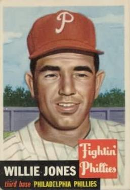 1953 Topps #88 Willie Jones DP