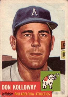 1953 Topps #97 Don Kolloway DP front image