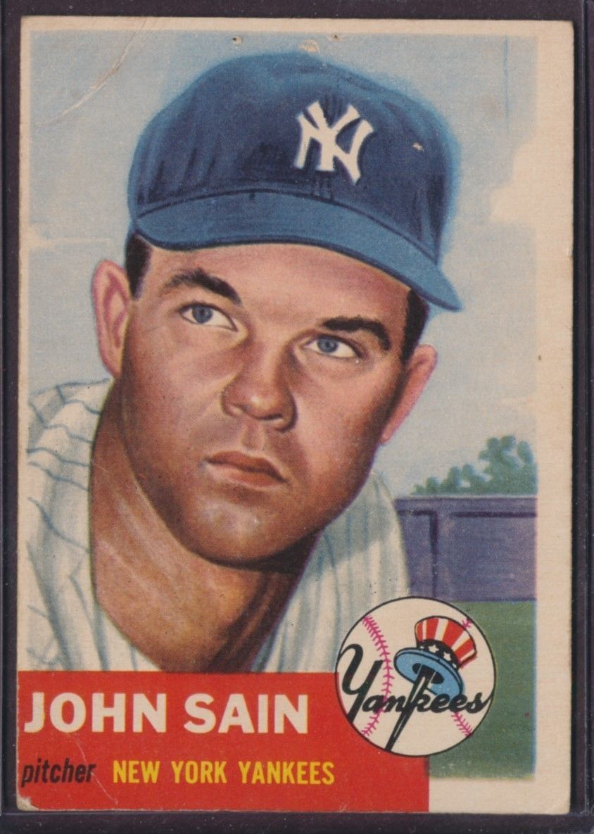 1953 Topps #119 Johnny Sain SP