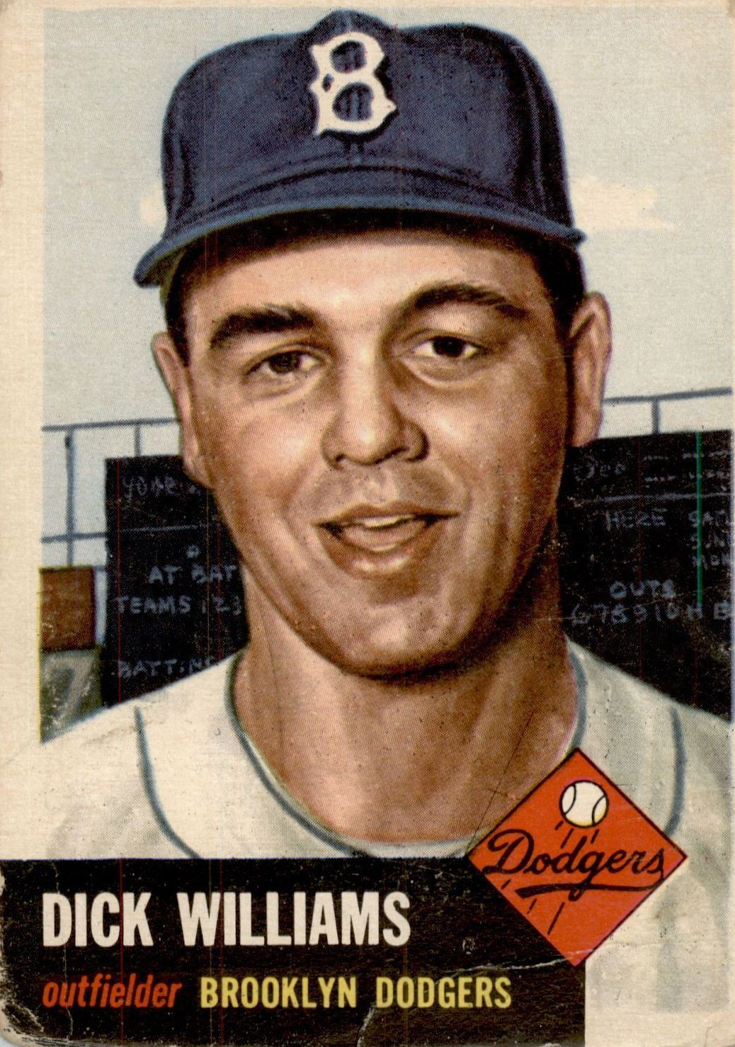 1953 Topps #125 Dick Williams DP