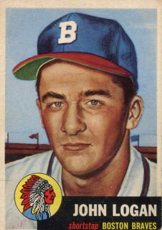 1953 Topps #158 Johnny Logan RC