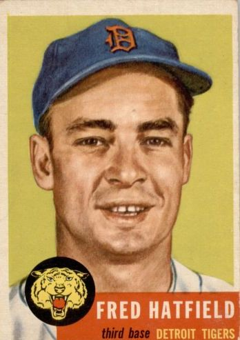 1953 Topps #163 Fred Hatfield DP