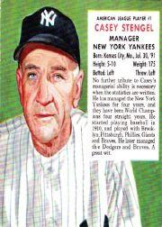 1953 Red Man #AL1 Casey Stengel MG