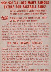 1953 Red Man #AL7 Eddie Joost back image