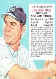 1953 Red Man #AL18 Johnny Mize