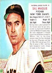 1953 Red Man #NL8 Sal Maglie