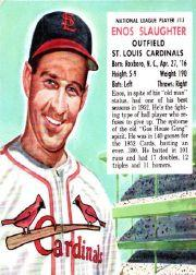 1953 Red Man #NL13 Enos Slaughter