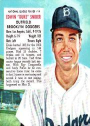1953 Red Man #NL14 Duke Snider