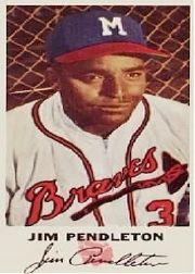 1954 Braves Johnston Cookies #3 Jim Pendleton