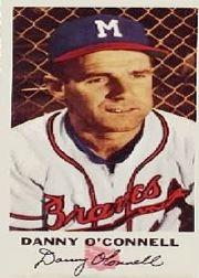 1954 Braves Johnston Cookies #4 Danny O'Connell