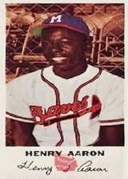 1954 Braves Johnston Cookies #5 Hank Aaron