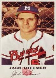 1954 Braves Johnston Cookies #6 Jack Dittmer