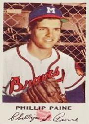 1954 Braves Johnston Cookies #11 Phil Paine