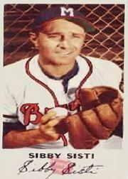 1954 Braves Johnston Cookies #13 Sibbi Sisti