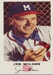 1954 Braves Johnston Cookies #19 Jim Wilson