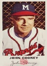 1954 Braves Johnston Cookies #28 Johnny Cooney CO front image