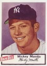 1954 Dan-Dee #17 Mickey Mantle