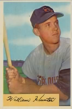 1954 Bowman #5 Billy Hunter