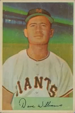 1954 Bowman #9 Dave Williams