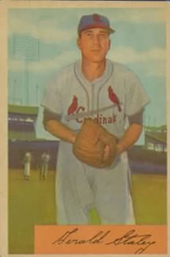 1954 Bowman #14 Gerry Staley