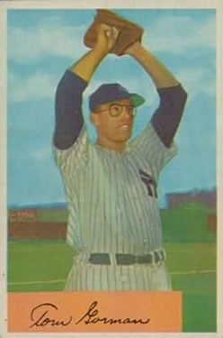 1954 Bowman #17 Tom Gorman front image