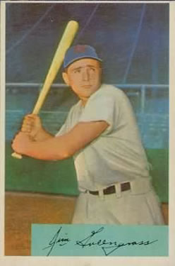 1954 Bowman #28A Jim Greengrass Birthplace Addison, NJ