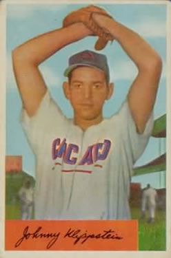 1954 Bowman #29 Johnny Klippstein
