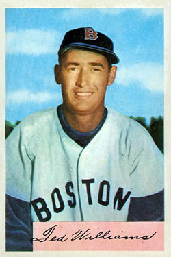 1954 Bowman #66A Ted Williams