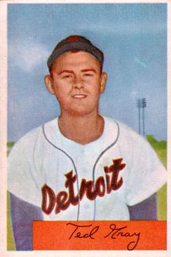 1954 Bowman #71 Ted Gray front image