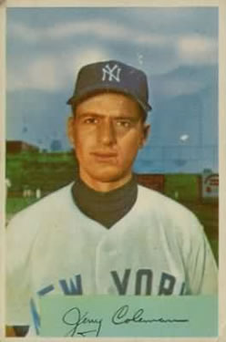 1954 Bowman #81A Jerry Coleman 1.000/.975 Fielding Avg.