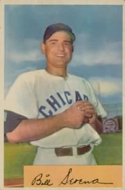 1954 Bowman #93A Bill Serena/.983/.966 Fielding Avg.