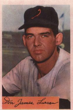 1954 Bowman #101 Don Larsen RC