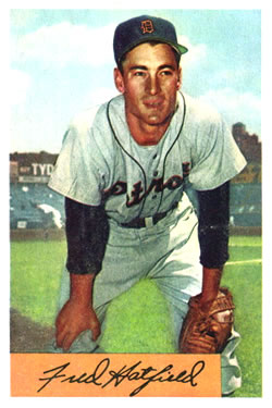 1954 Bowman #119 Fred Hatfield
