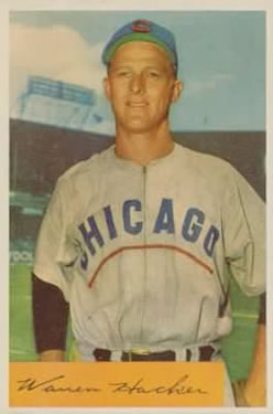 1954 Bowman #125 Warren Hacker