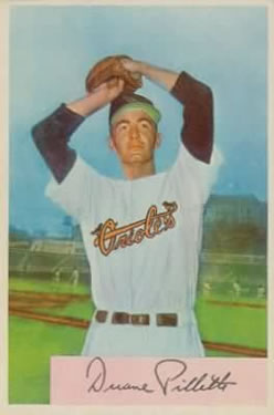 1954 Bowman #133 Duane Pillette