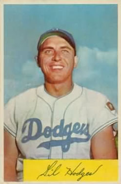 1954 Bowman #138A Gil Hodges .993/.991 Fielding Avg.