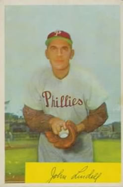 1954 Bowman #159 Johnny Lindell