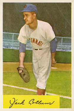 1954 Bowman #204 Jack Collum RC