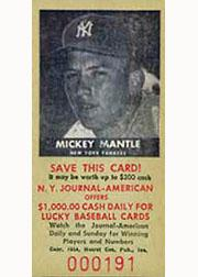 1954 New York Journal American #51 Mickey Mantle