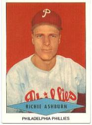 1954 Red Heart #1 Richie Ashburn SP