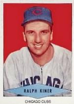 1954 Red Heart #13 Ralph Kiner SP
