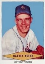 1954 Red Heart #15 Harvey Kuenn