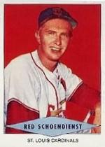 1954 Red Heart #27 Red Schoendienst SP